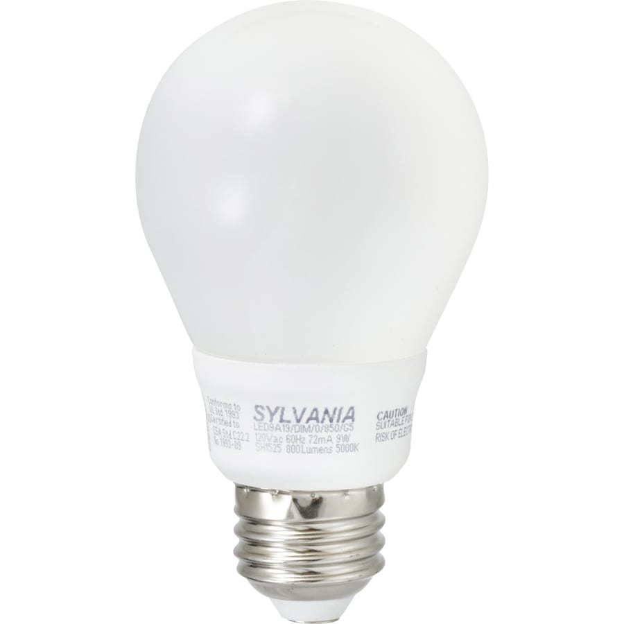 SYLVANIA 75 W Equivalent Dimmable Daylight A19 LED Light Fixture Light Bulb