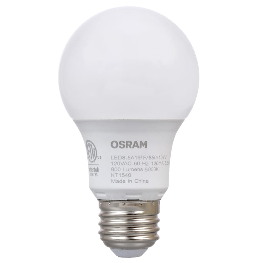 SYLVANIA Ultra 4-Pack 60 W Equivalent Dimmable Daylight A19 LED Light Fixture Light Bulbs