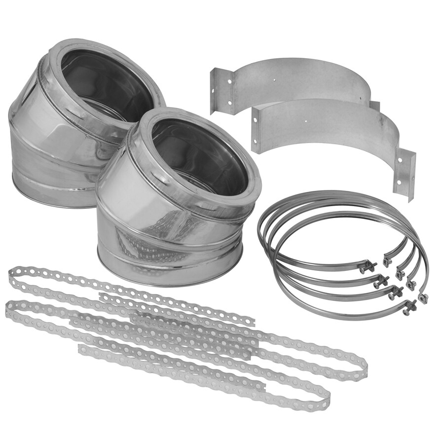 SuperVent 7-Piece Chimney Pipe Accessory Kit for Installation