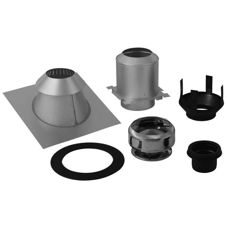 SuperVent 5-Piece Chimney Pipe Accessory Kit for Ceiling Support - Shop SuperVent 5-Piece Chimney Pipe Accessory Kit For Ceiling