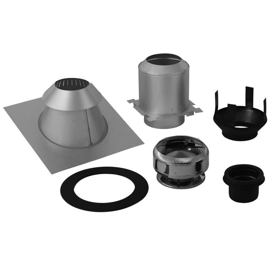Supervent 6 Piece Chimney Pipe Accessory Kit For Ceiling