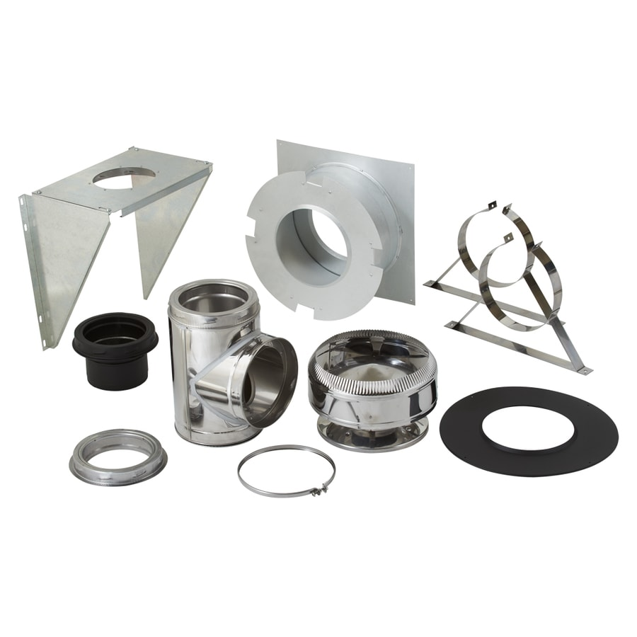 SuperVent 11-Piece Chimney Pipe Accessory Kit for Wall Support