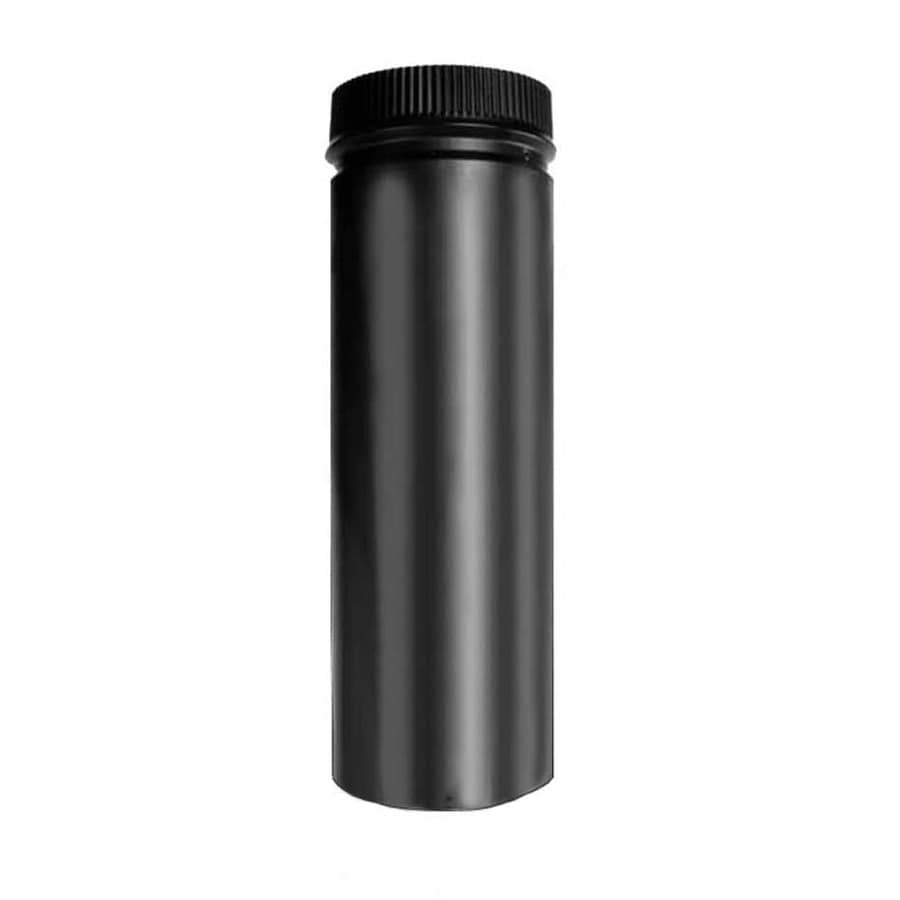 Selkirk 36-in L x 6-in Dia Black Insulated Double Wall Stainless Chimney Pipe