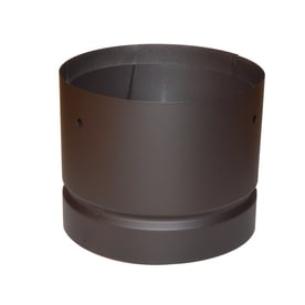 Supervent 8 125 In X 8 125 In Black Stainless Steel Stove Pipe Adapter
