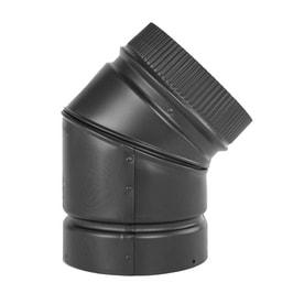 Selkirk 8 In X 8 In X 45 Degree Black Stainless Steel Stove