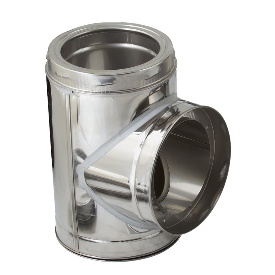 SuperVent 8-in x 8-in x 8-in Stainless Steel Stove Pipe Tee