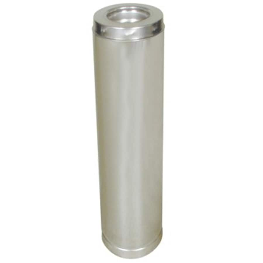 SuperVent 18-in L x 6-in dia Stainless Steel Insulated Double Wall Stainless Chimney Pipe