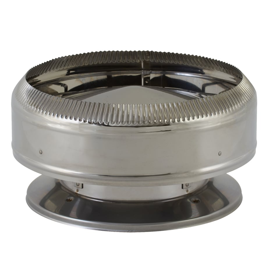 Shop SuperVent 8-in W x 4.5-in L Stainless Steel Round Chimney Cap ...