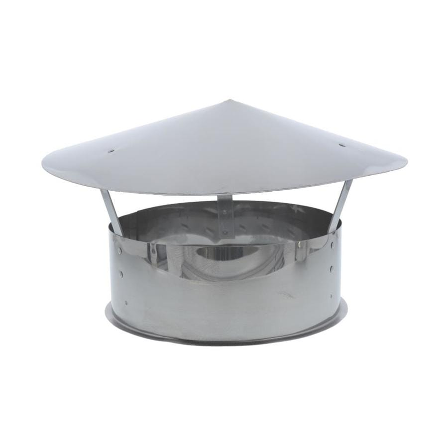 Shop SuperVent 6-in W x 5-in L Stainless Steel Round Chimney Cap ...