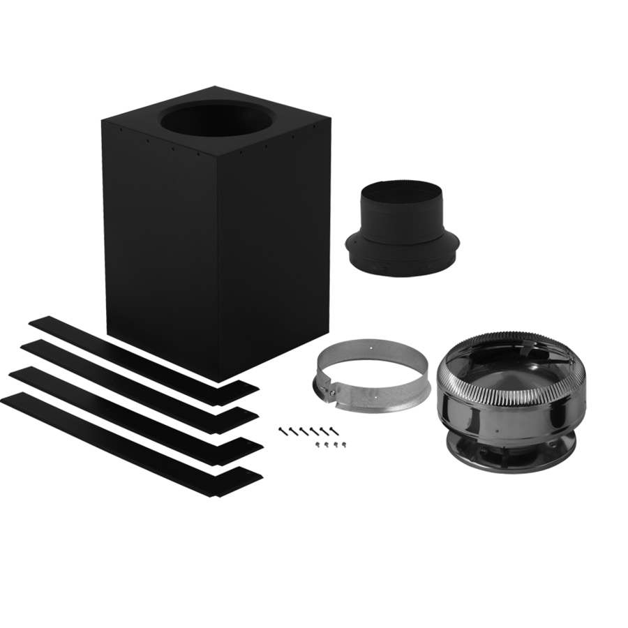 SuperVent 8-Piece Chimney Pipe Accessory Kit for Ceiling Support