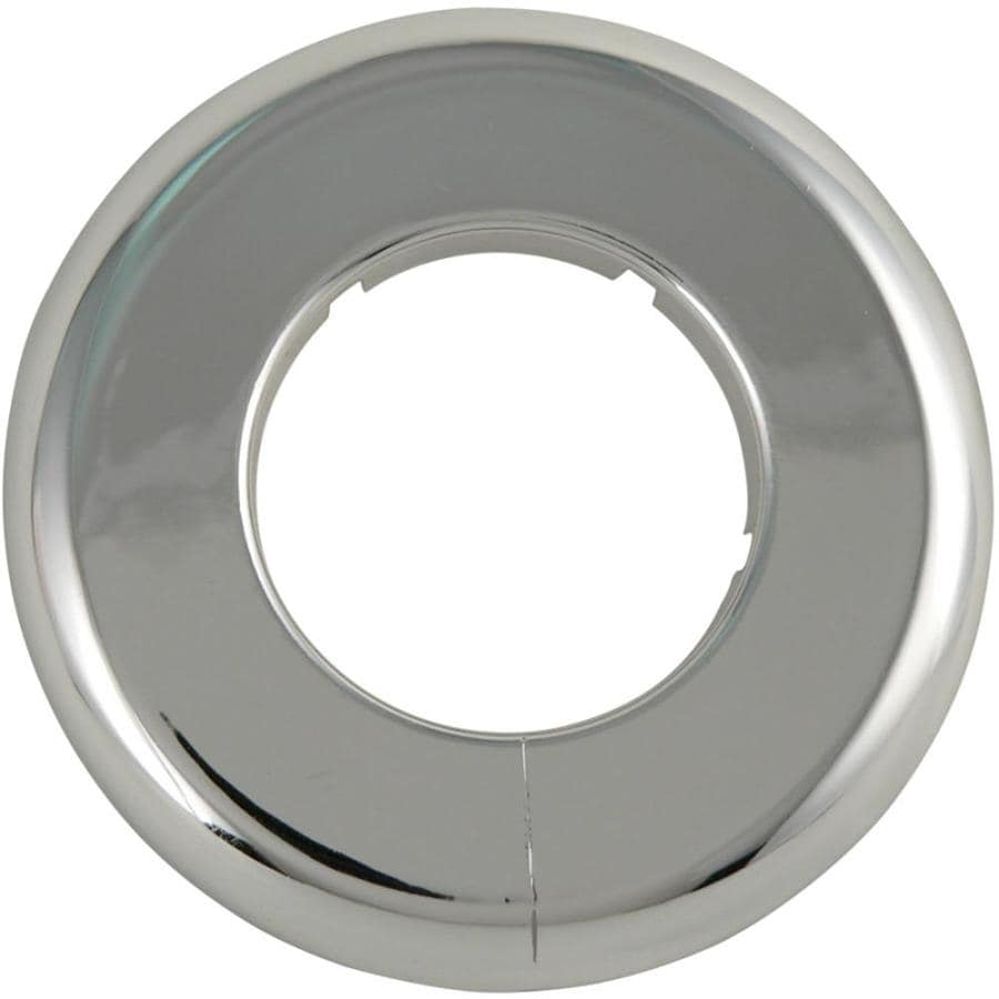 Keeney Chrome Split Shallow Floor and Ceiling Plate