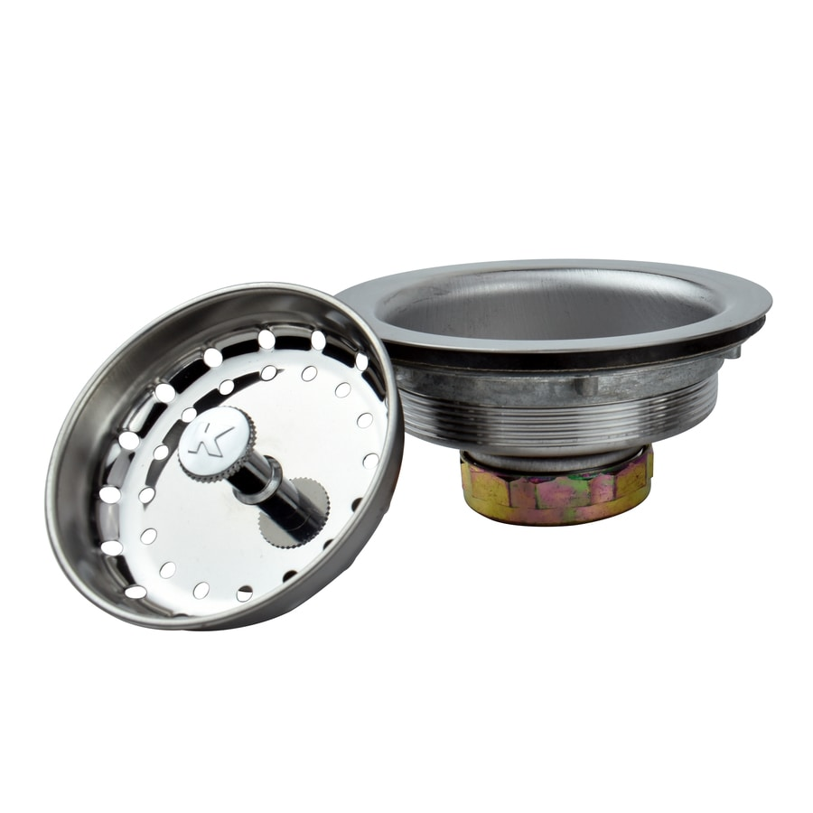 kitchen sink strainer shop keeney 3 5 in stainless steel kitchen sink strainer 2920