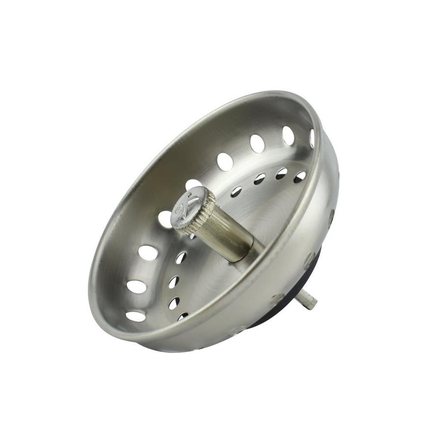 kitchen sink basket strainers shop keeney 3 5 in brushed nickel stainless steel kitchen 5647