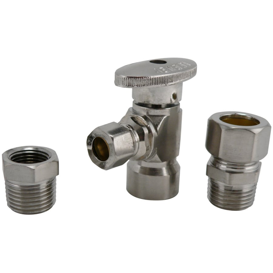 Keeney Mfg. Co. Brushed Nickel Quarter-Turn Angle Valve
