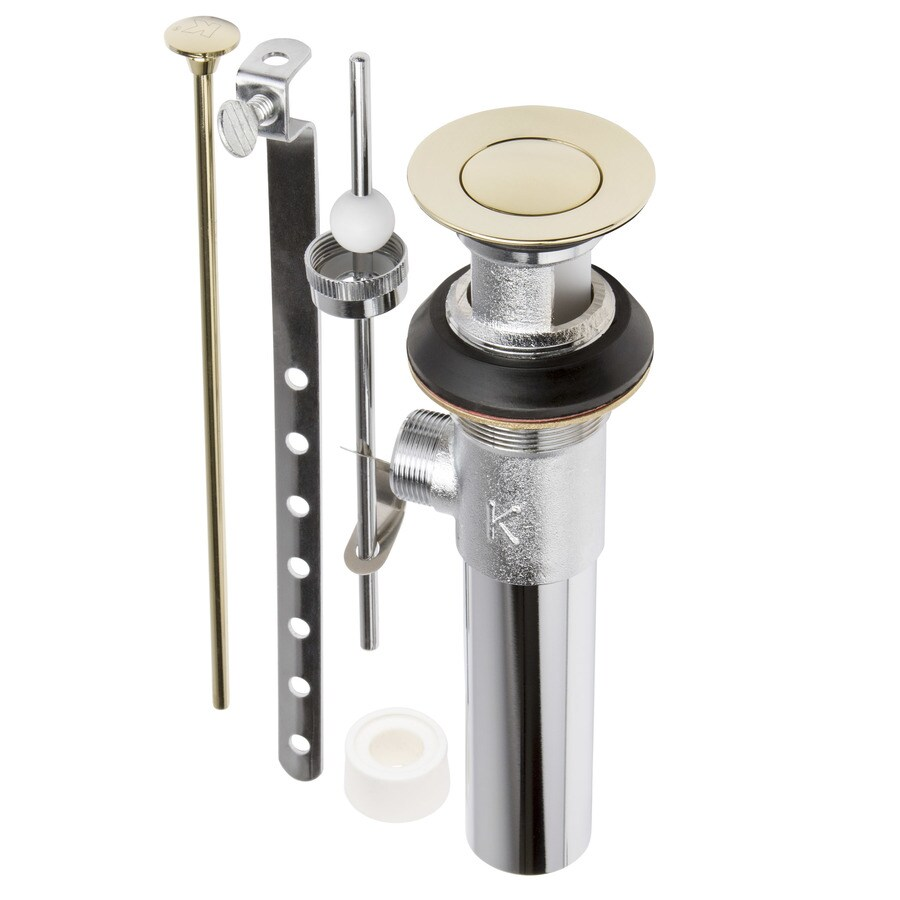 Keeney Universal Fit Polished Brass Pop-Up Drain Kit