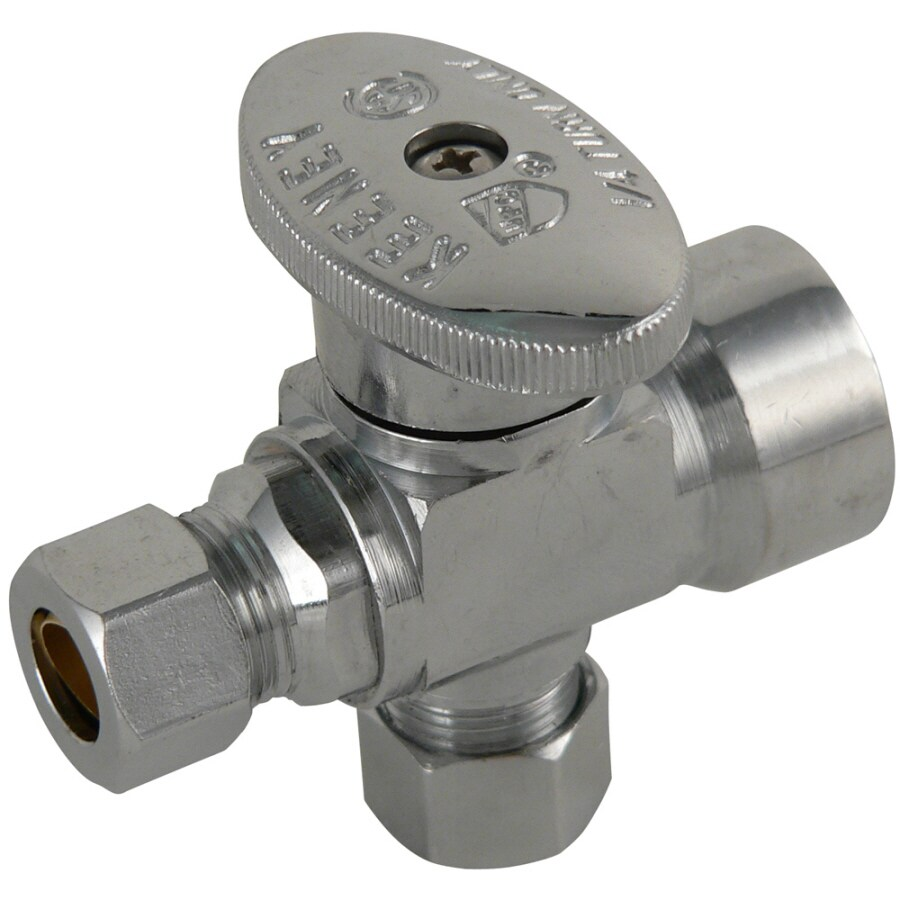 Keeney Mfg. Co. Chrome Quarter-Turn 3-Way Valve