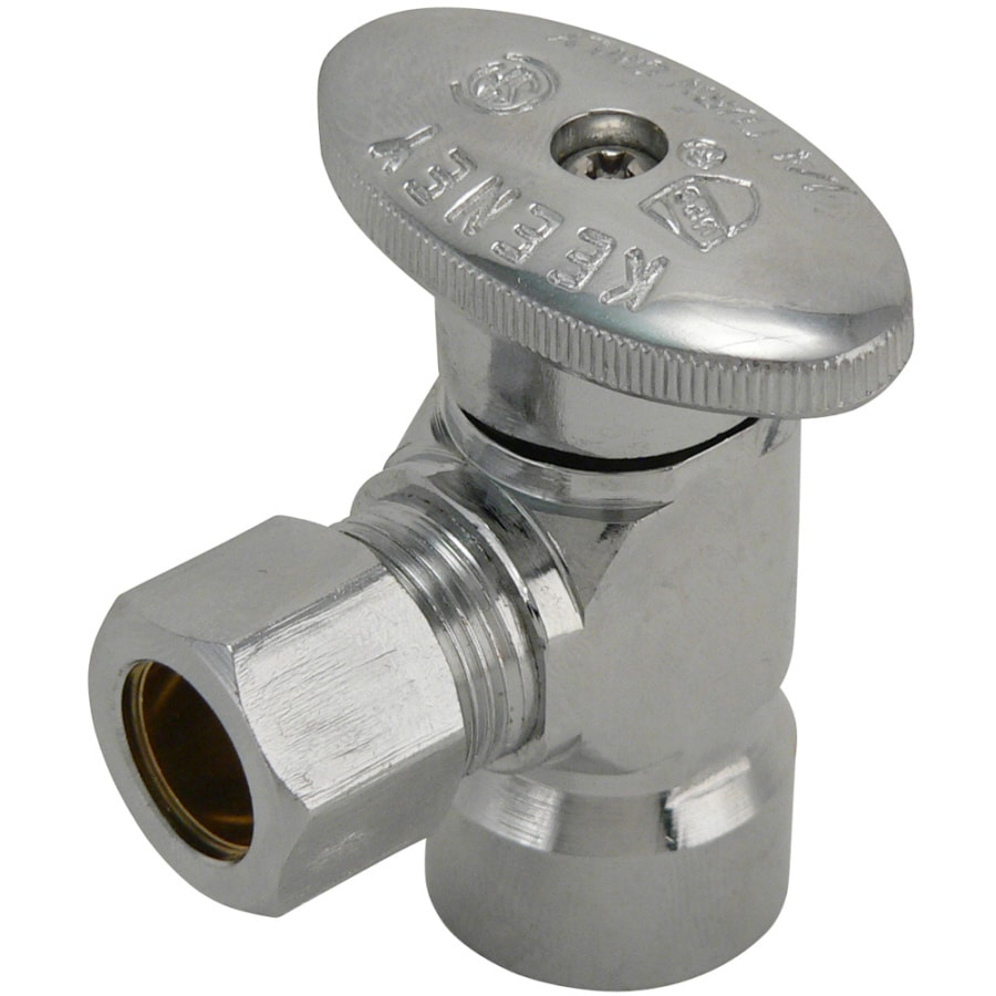 Keeney Brass 1/2-in FIP x 1/2-in Compression Quarter Turn Angle Valve