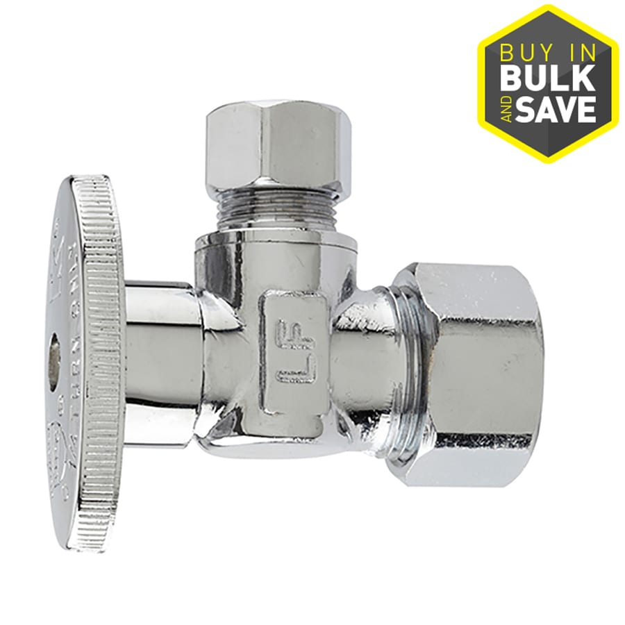 Keeney 1/2-in Brass Compression In-Line Angle Valve