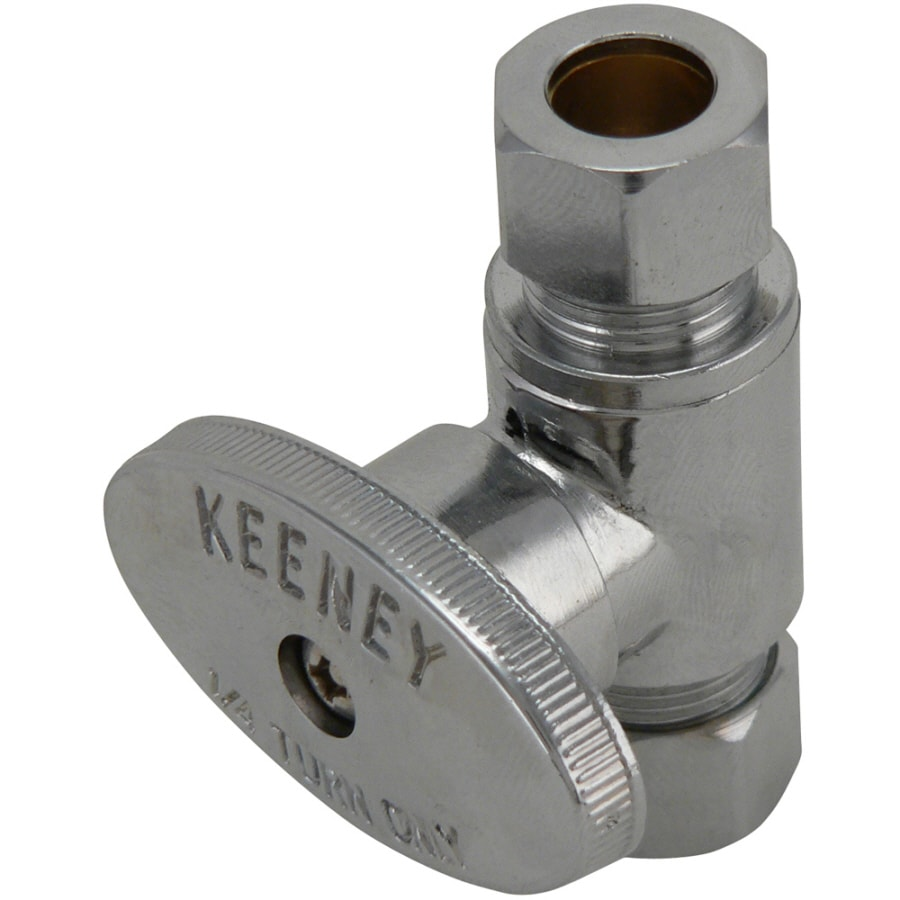 Keeney Brass Compression Straight Valve