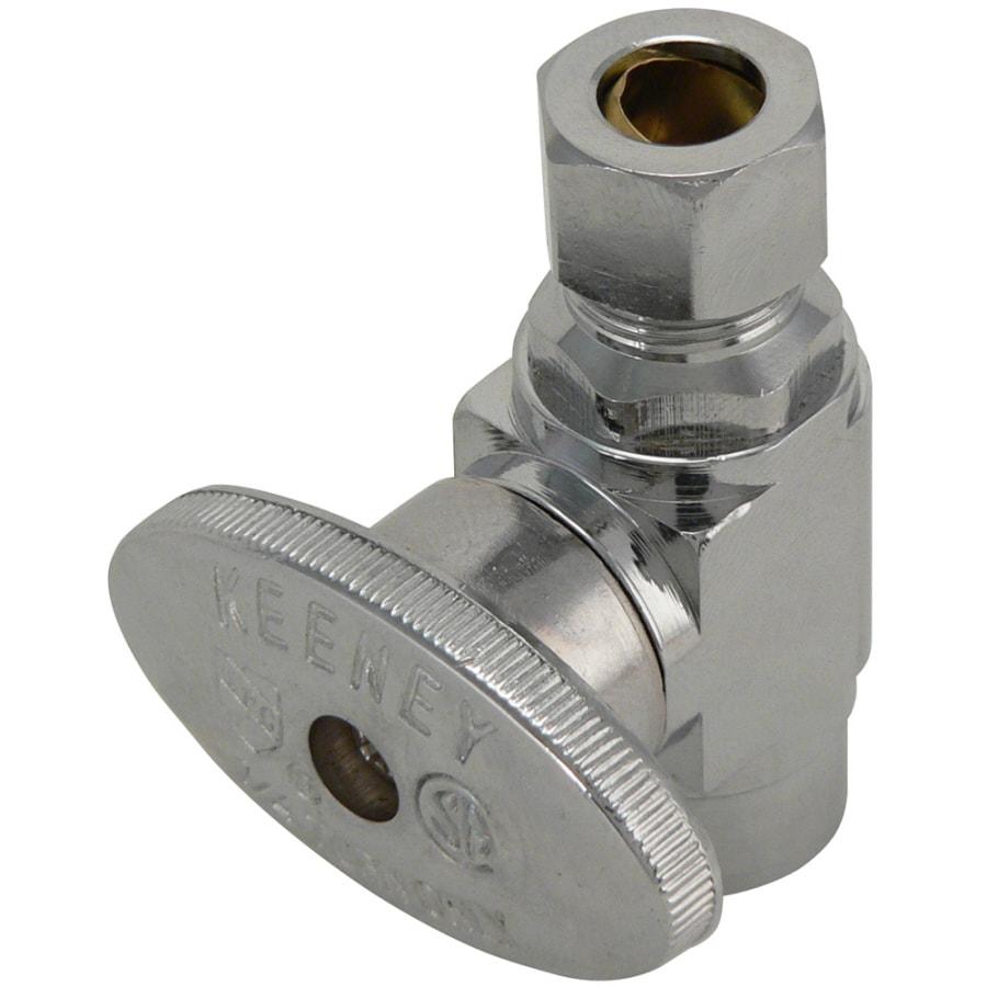 Keeney Brass 3/8-in FIP x 3/8-in Compression Quarter Turn Straight Valve
