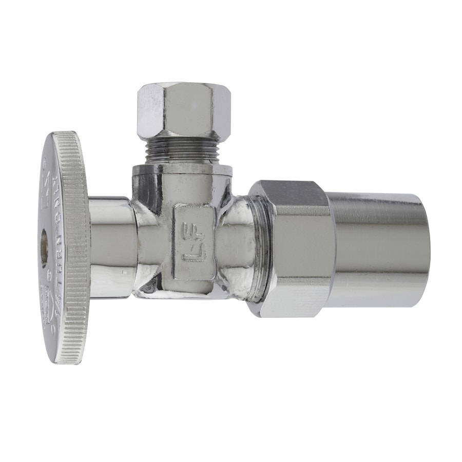 Keeney Brass 1/2-in CPVC x 3/8-in Compression Quarter Turn Angle Valve