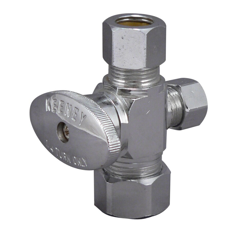 Keeney Mfg. Co. Chrome Quarter Turn Angle Valve