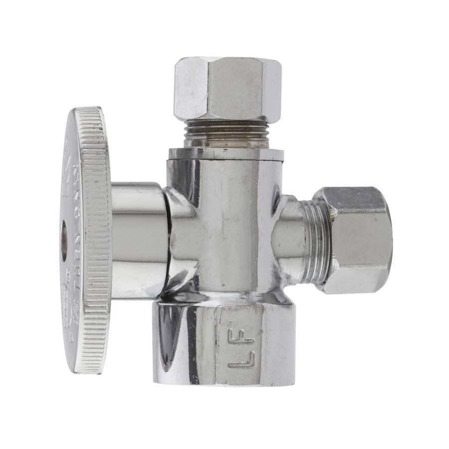 Keeney Chrome Quarter Turn 3-Way Valve