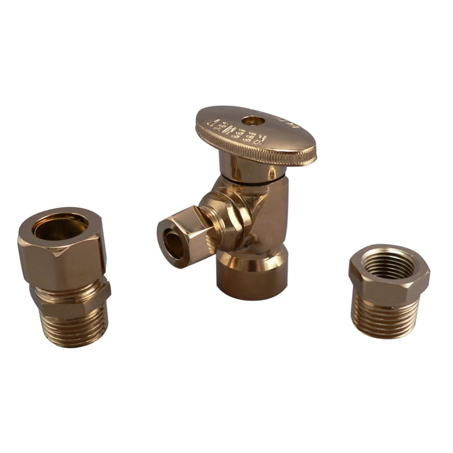 Keeney Mfg. Co. Polished Brass Quarter Turn Angle Valve