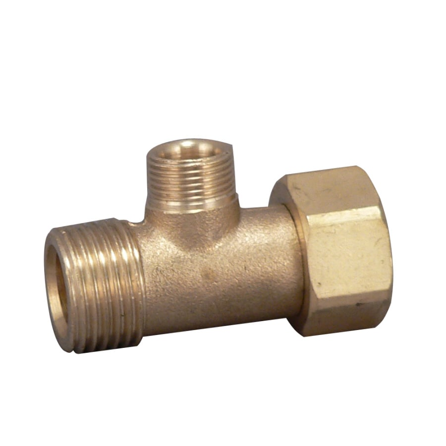 Keeney Brass 1/2-in Compression x 3/8-in Compression 3-Way Valve