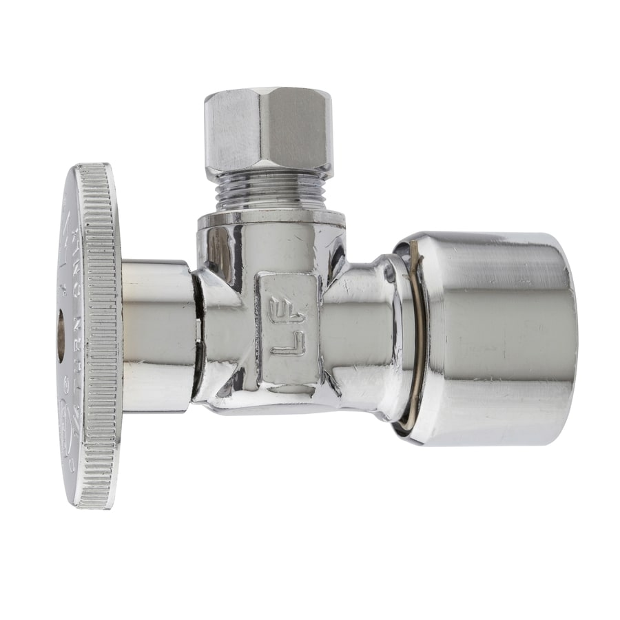 Plumb Pak 1/2-in Brass Push Fit In-Line Angle Valve