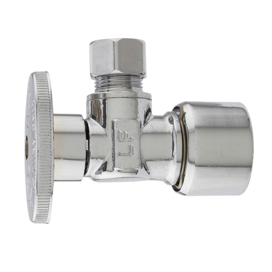 Plumb Pak Brass 1/2-in Compression x 3/8-in Compression Quarter Turn Angle Valve