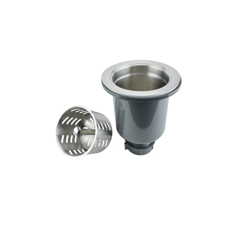 Shop keeney 3 5 in stainless steel kitchen sink strainer for 2 kitchen sink drain