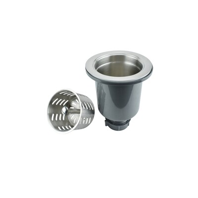 3.5-in Stainless Steel Rust Resistant Strainer Basket with Basket Included
