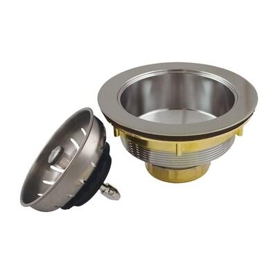 Keeney 3.5-in Brass Kitchen Sink Strainer- Stainless Steel ...