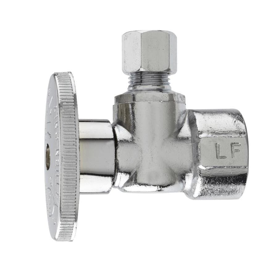 Keeney Brass 1/2-in FIP x 1/4-in Compression Quarter Turn Angle Valve