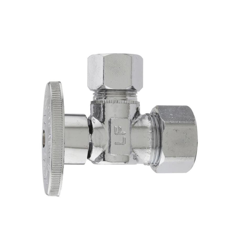 Keeney Brass 1/2-in Compression x 1/2-in Compression Quarter Turn Angle Valve