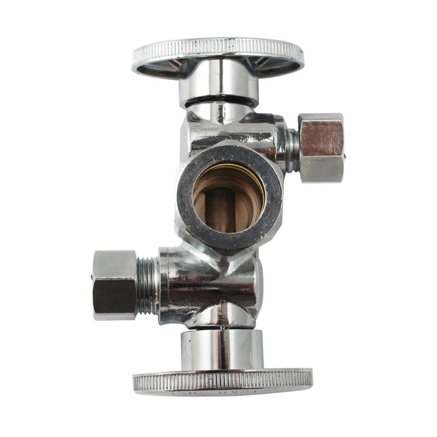 Keeney Brass 1/2-in Compression x 3/8-in Compression Quarter Turn 3-Way Valve