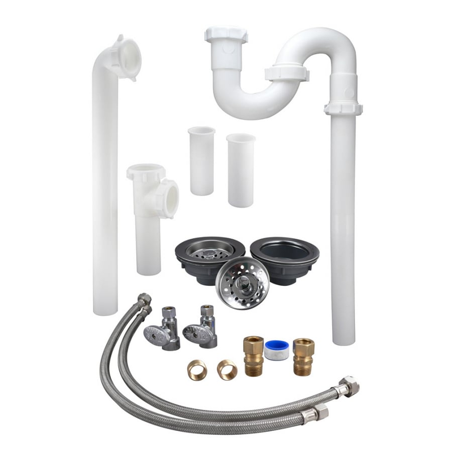 delightful Kitchen Sink Drain Plumbing Parts #6: Shop Plumb Pak Kitchen Sink Installation Kit For In Pipe At - Kitchen sink  plumbing