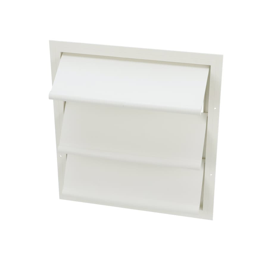 Air Vent 17.75-in x 19.5-in White Rectangle Plastic Gable Vent