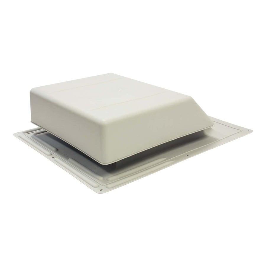 Air Vent Gray Plastic Slant-Back Roof Louver