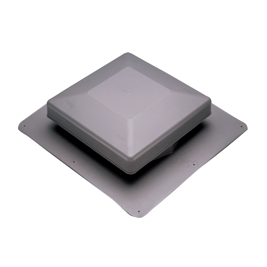 AIR VENT INC. Gray Plastic Square Roof Louver