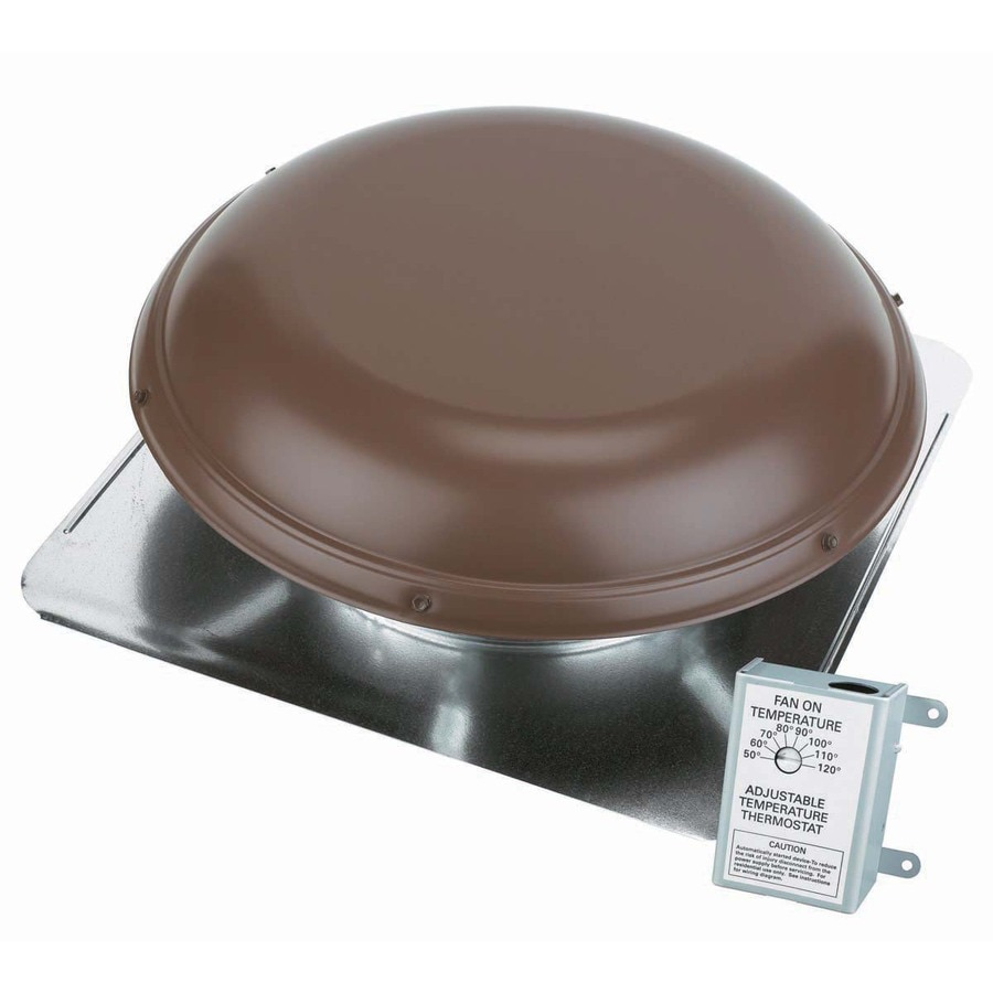 Attic Aire 1,500-CFM Brown Galvanized Steel Electric Power Roof Vent