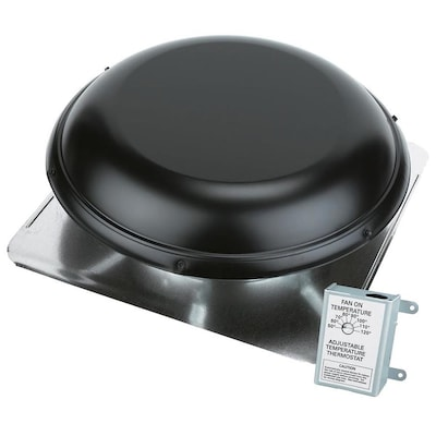 Air Vent 1,500-CFM Black Galvanized Steel Electric Power
