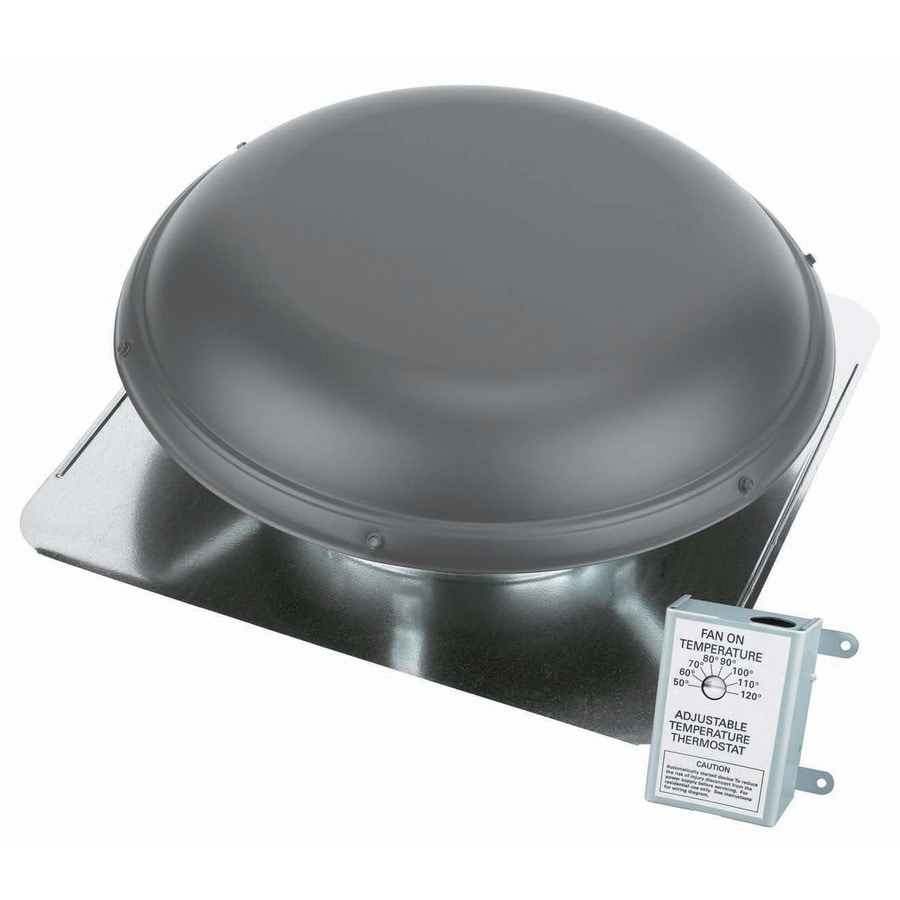Air Vent 1,500-CFM Weatherwood Galvanized Steel Electric Power Roof Vent