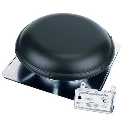 Air Vent 1,500-CFM Black Galvanized Steel Electric Power