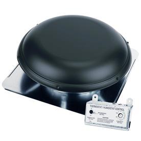 Air Vent 1 500 Cfm Black Galvanized Steel Electric Roof