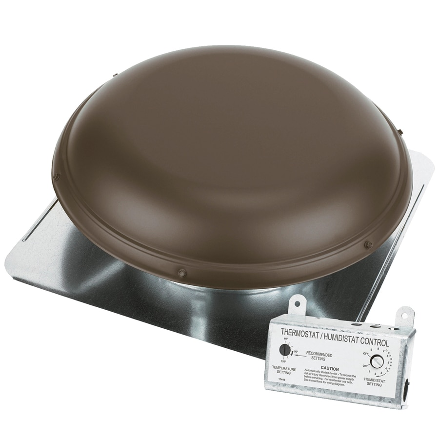 delete 4 1,500-CFM Brown Galvanized Steel Electric Power Roof Vent