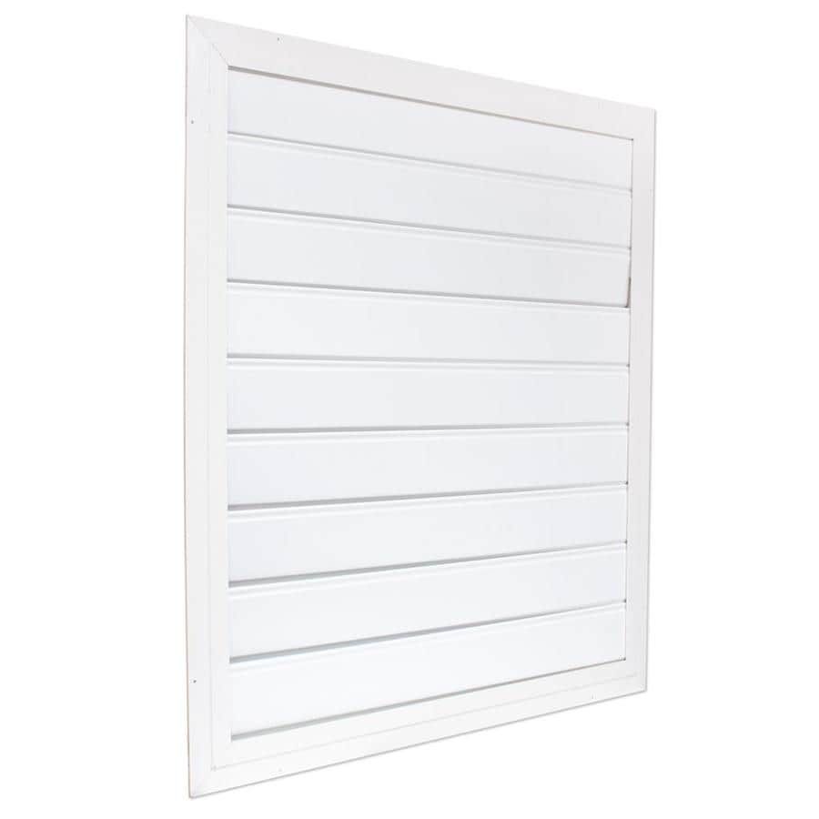 Air Vent 36-in x 39-in White Aluminum Whole House Fan Shutter