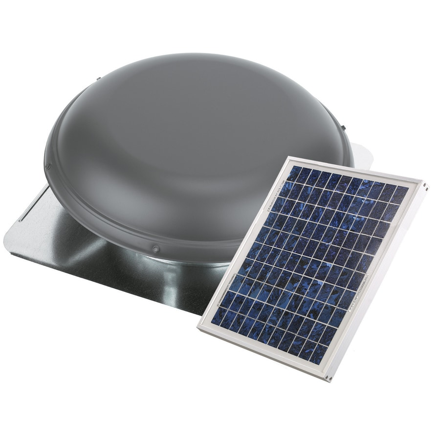 Air Vent 1000-CFM Weatherwood Galvanized Steel Solar Power Roof Vent