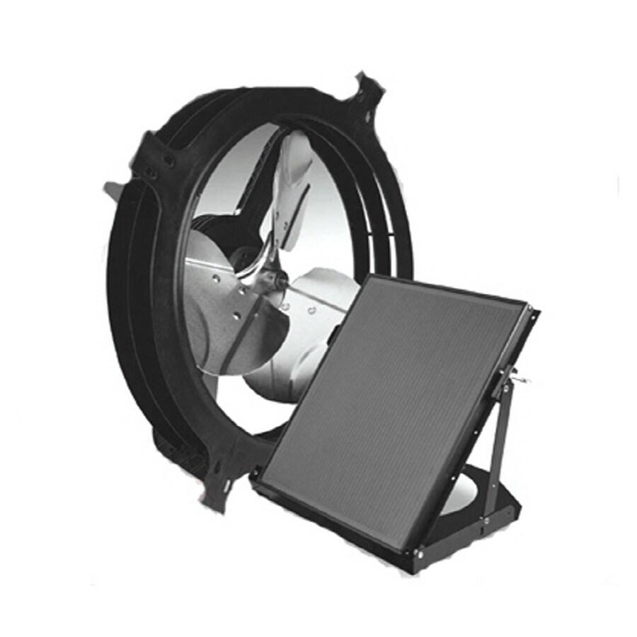 Black Solar Gable Ed Mounted Roof Fan